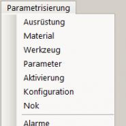 Parametrisierung Pulldown Menu